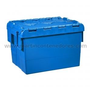 Caja encajable con tapa 400x300 mm nueva azul