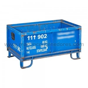 Steel box 1000x600x517/325 mm