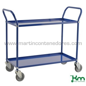 Service trolley blue with 2...