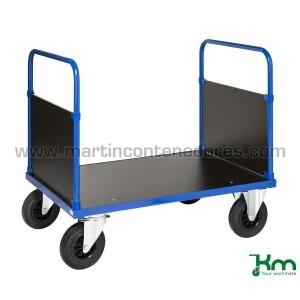 Carro plataforma azul con 2...