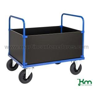 Chariot de transport bleu à...