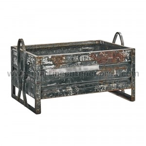 Metal sheet container with...