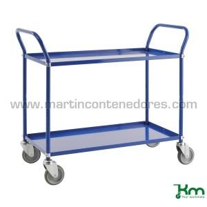 Chariot de transport bleu...