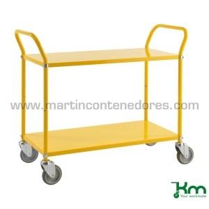 Chariot de transport jaune...
