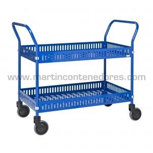 Chariot de service bleu...