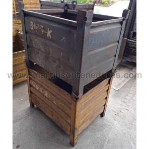 Steel box 800x600x600/500 mm