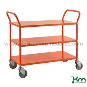Chariot de service orange...