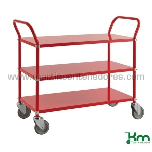 Service trolley red with 3...