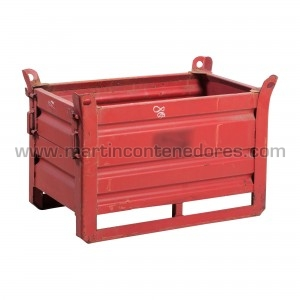 Steel box with flap...