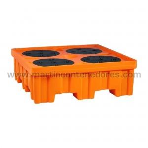Cubeta anti-derrame 4 bidones