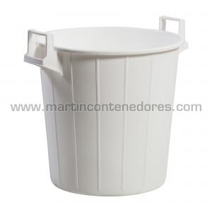 Round plastic container...