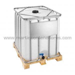 IBC 600 litros palete de madeira