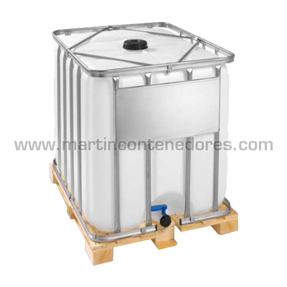 nuevo deposito IBC 600 litros palet madera