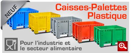 caisses-palettes plastique neuf pour l'industrie alimentaire