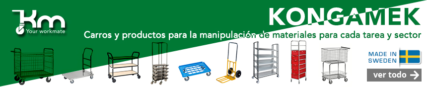 Kongamek – Your workmate ofrece una amplia gama de carros en el manejo de materiales.