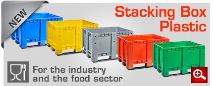 new stacking box plastic