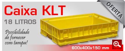 Oferta de caixas KLT 18 litros