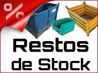Restos de Stock contenedores cajas para logistica